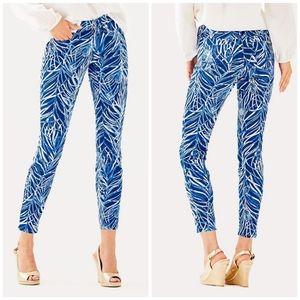 Lilly Pulitzer blue south ocean skinny crop pants
